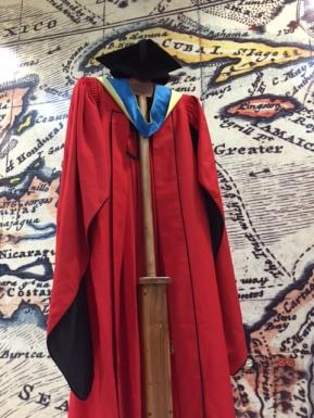 Regalia worn by Honorary Graduands of the UWI