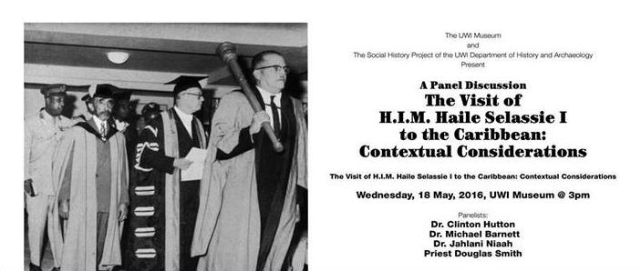 Event flyer shows procession at special convocation to honour Emperor Haile Selassie with an Honorary Doctor of Laws degree at the UWI on April 22, 1966